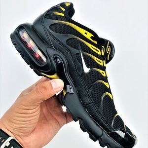 Nike Air Max Plus Tuned TN GS Black Yellow White